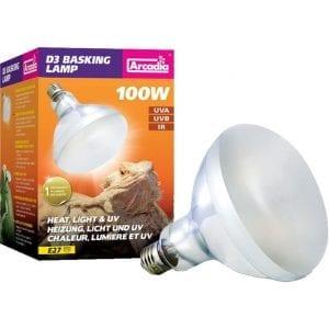 D3 BASKING LAMP VARME&LYS.UVA/UVB E27 hos Tropehagen
