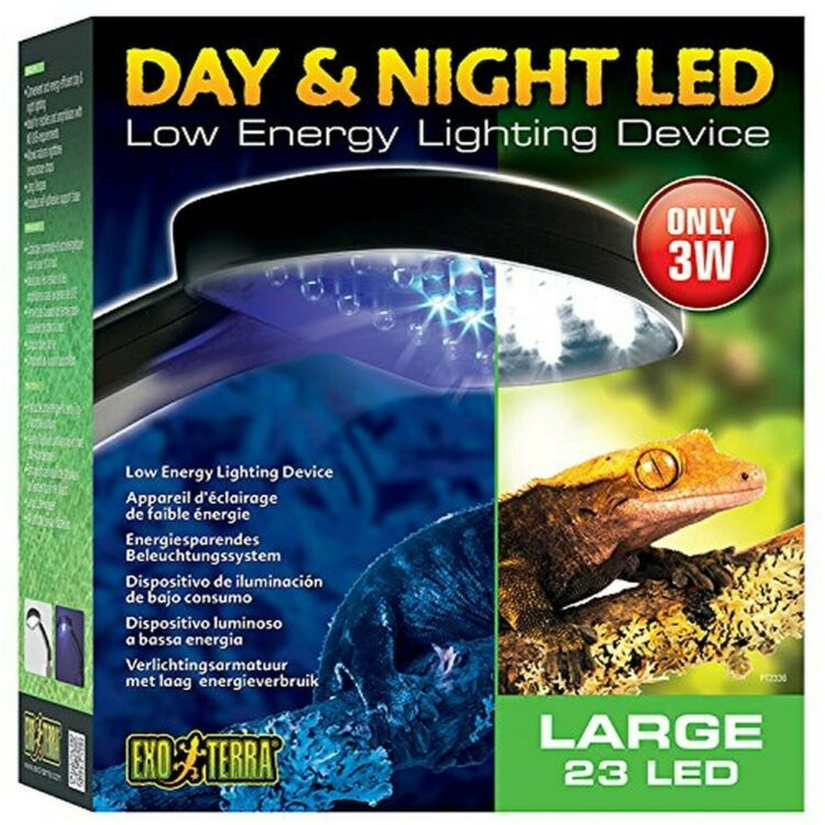 Dag - Natt LED 3W Exoterra 22 Vita-2 blå LED